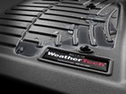 Closeup of water pooling on a black FloorLiner. BY WEATHERTECH