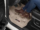 Floorliner_with_Brown_Boots BY WEATHERTECH
