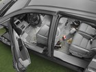 overhead shot of a van with FloorLiner in it BY WEATHERTECH
