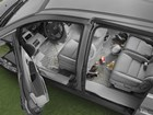 Zoomed out view of front and rear FloorLiners. BY WEATHERTECH