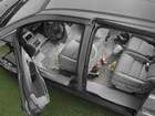 overhead shot of a van with FloorLiners in it BY WEATHERTECH
