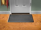 black IndoorMat in front of door BY WEATHERTECH