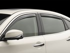 Side Window Deflector on a sliver car BY WEATHERTECH
