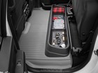Ice fishing tackle stored in under seat storage. BY WEATHERTECH