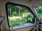 inside the vehicle view of Side Window Deflector BY WEATHERTECH