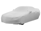 Gray Indoor Car Cover fully covering vehicle.  BY WEATHERTECH