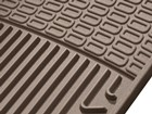 up close view of tan All Weather Floor Mats BY WEATHERTECH