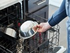 Stainless Steel Pet Bowl in the top of dishwasher. BY WEATHERTECH