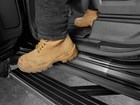 Men's boot on protected door sill.  BY WEATHERTECH