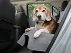 up close image of dog on a Seat Protector BY WEATHERTECH