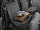 pizza boxes on a black bucket Seat Protector BY WEATHERTECH