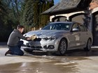 Wash Mitt being used to wash a silver BMW. BY WEATHERTECH