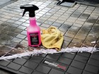 floorliner cleaner bottle with yellow rag BY WEATHERTECH