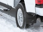 Mudflap on truck in the snow. BY WEATHERTECH