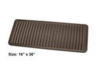 brown Boot Tray with dimensions BY WEATHERTECH