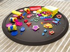 play doh on a cocoa Christmas Tree Mat BY WEATHERTECH