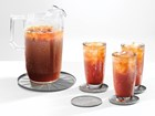 iced tea glasses on three coasters BY WEATHERTECH
