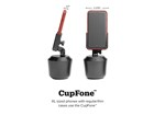 CupFone front and size view with dimensions. BY WEATHERTECH