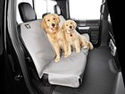 two dogs on a grey Seat Protector BY WEATHERTECH