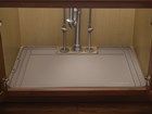 Tan SinkMat with cut out for drain.  BY WEATHERTECH