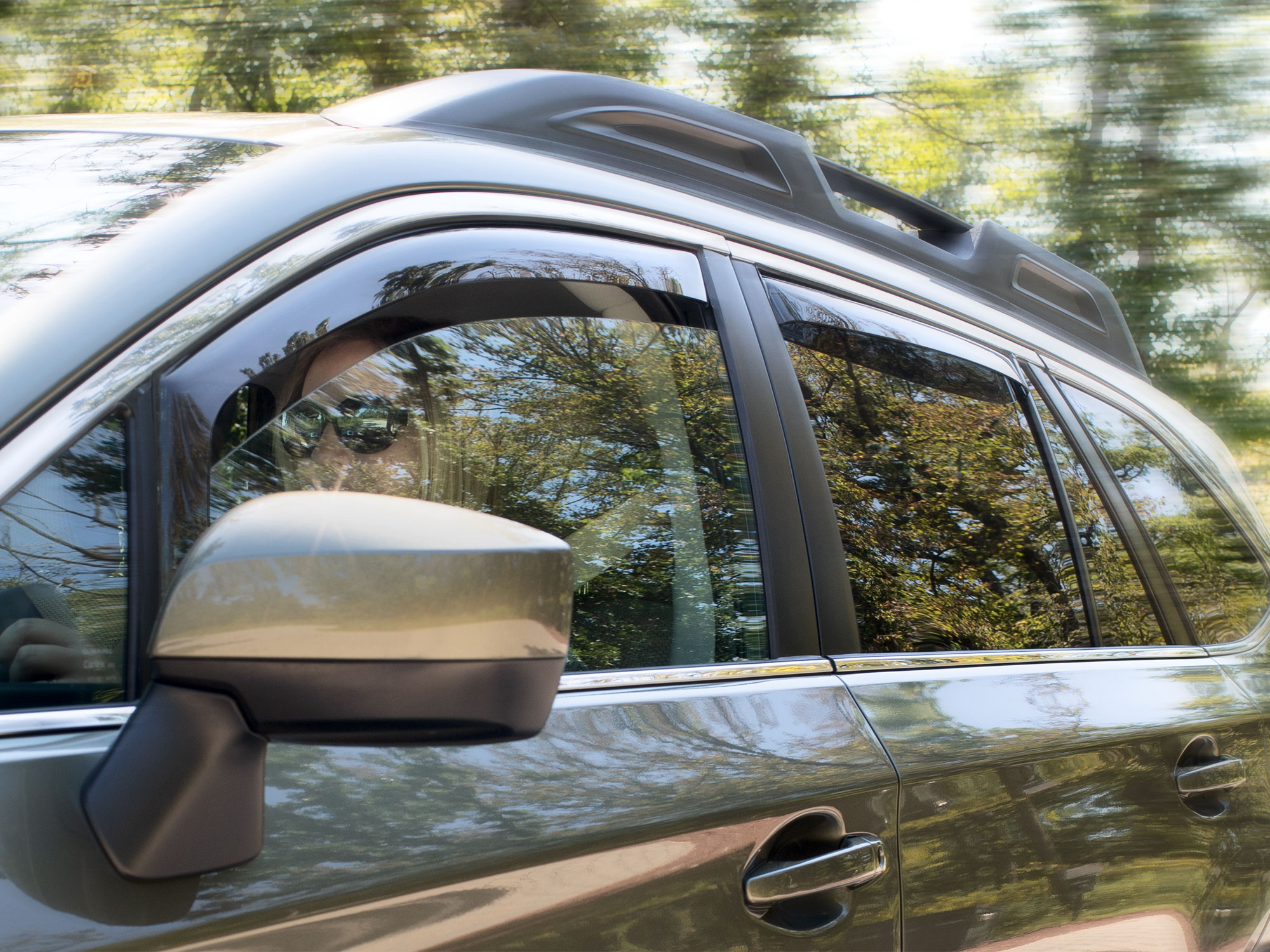 Front and Rear Set Side Window Deflectors