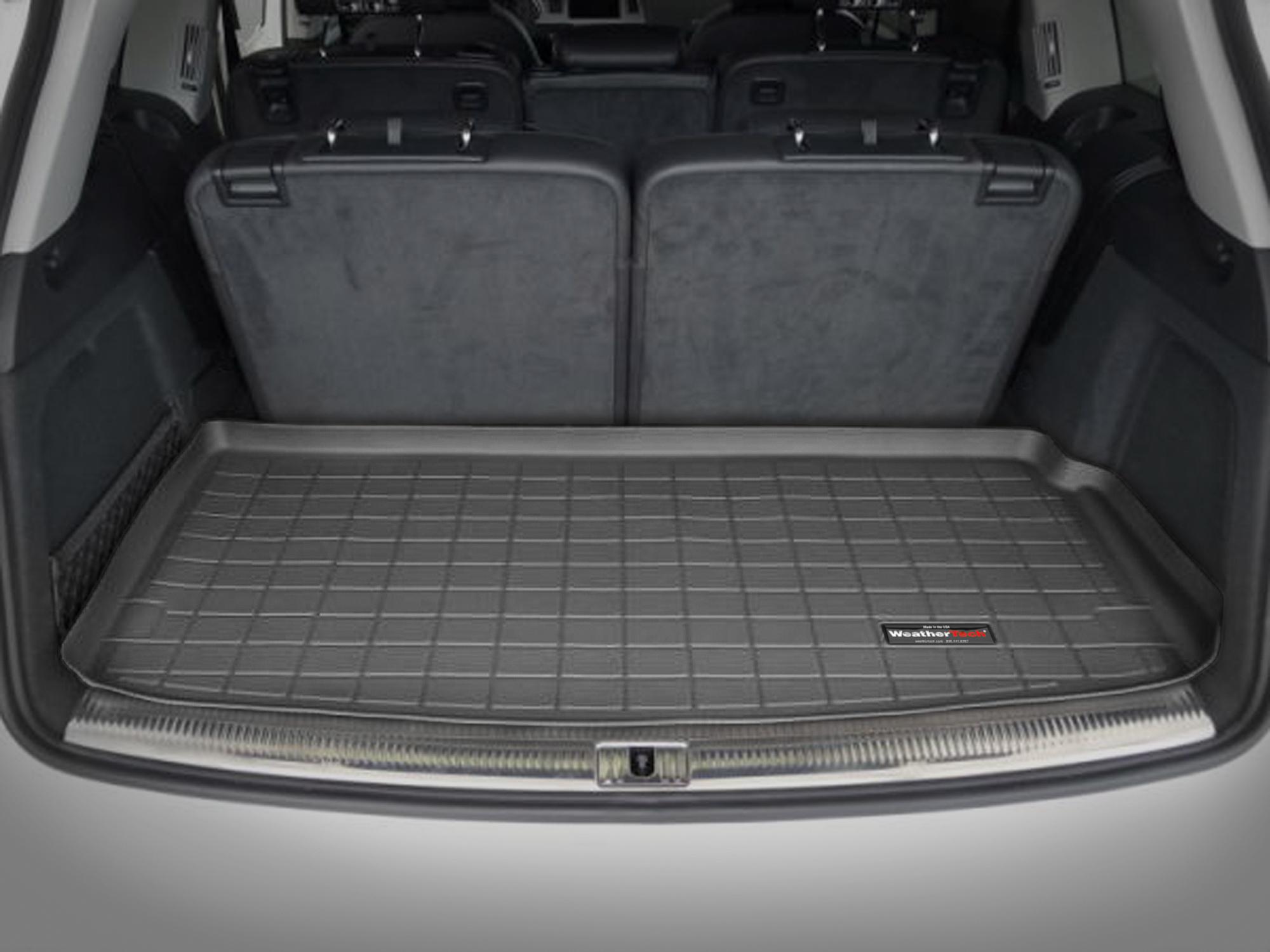 Audi Q7 2006>2014 Vasca proteggi baule tappeto bagagliaio nero *107