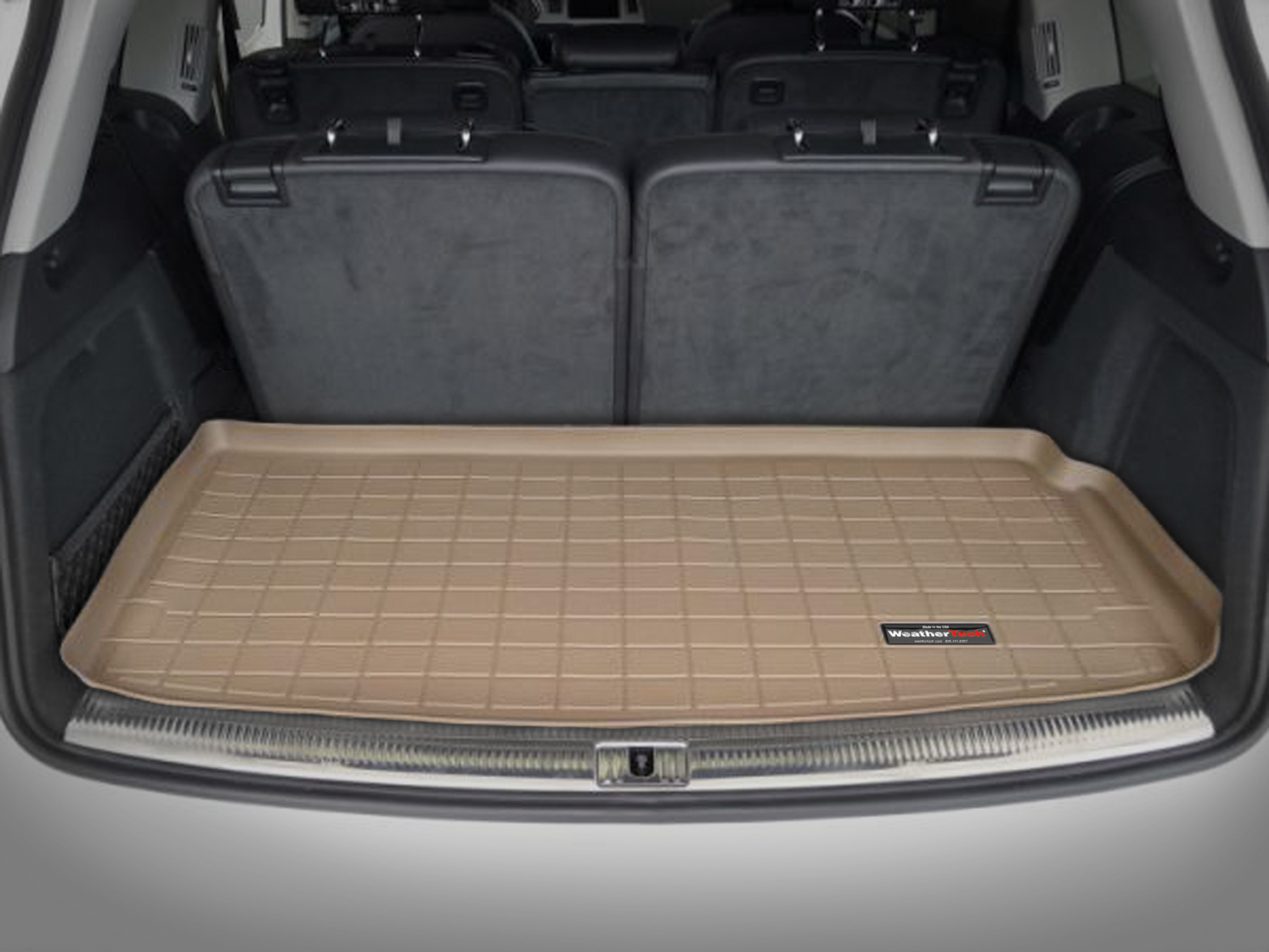 Audi Q7 2006>2014 Vasca proteggi baule tappeto bagagliaio marrone *106