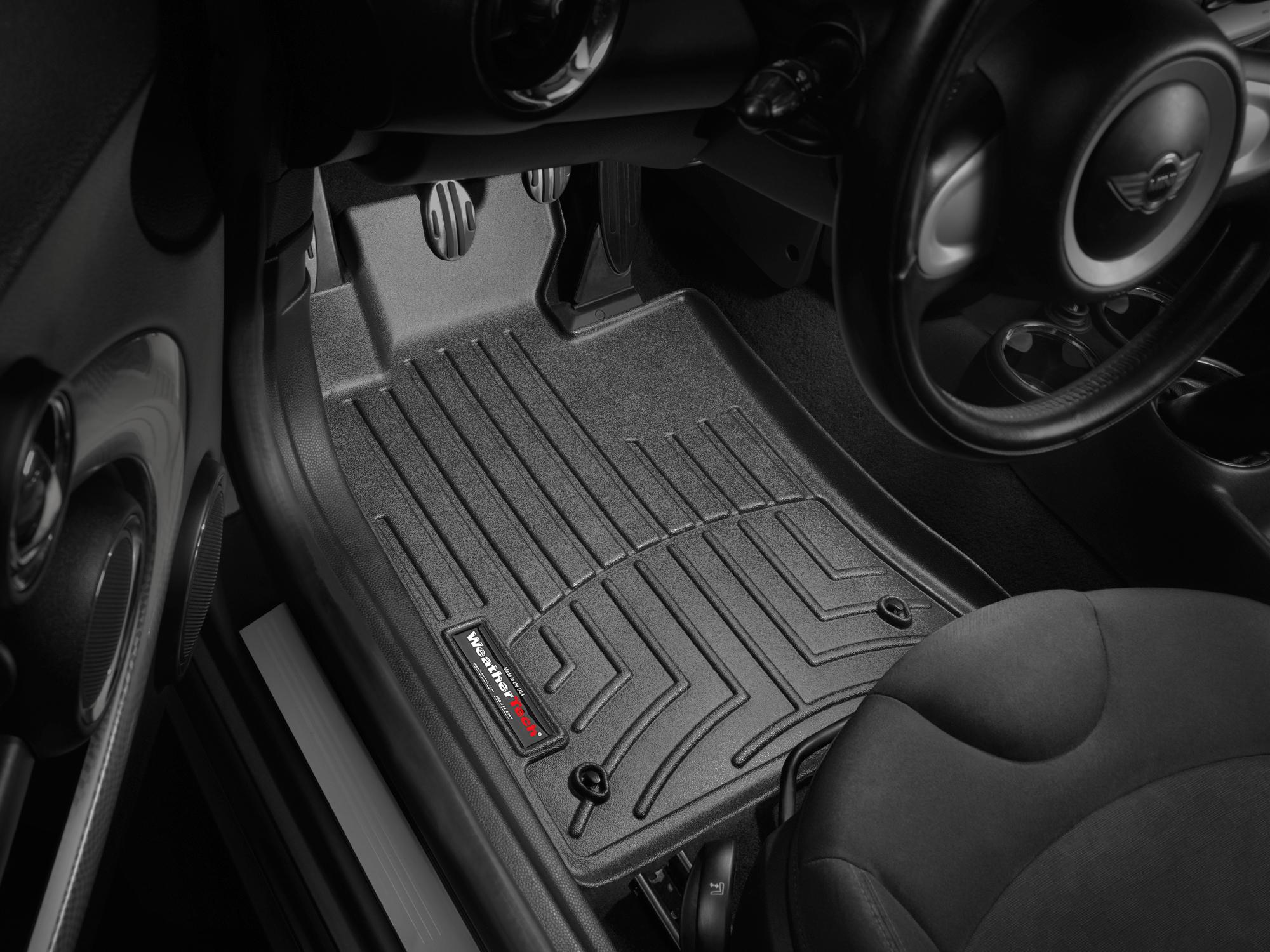 Tappeti gomma su misura bordo alto MINI Cooper / Cooper S 09>13 Nero A2687*