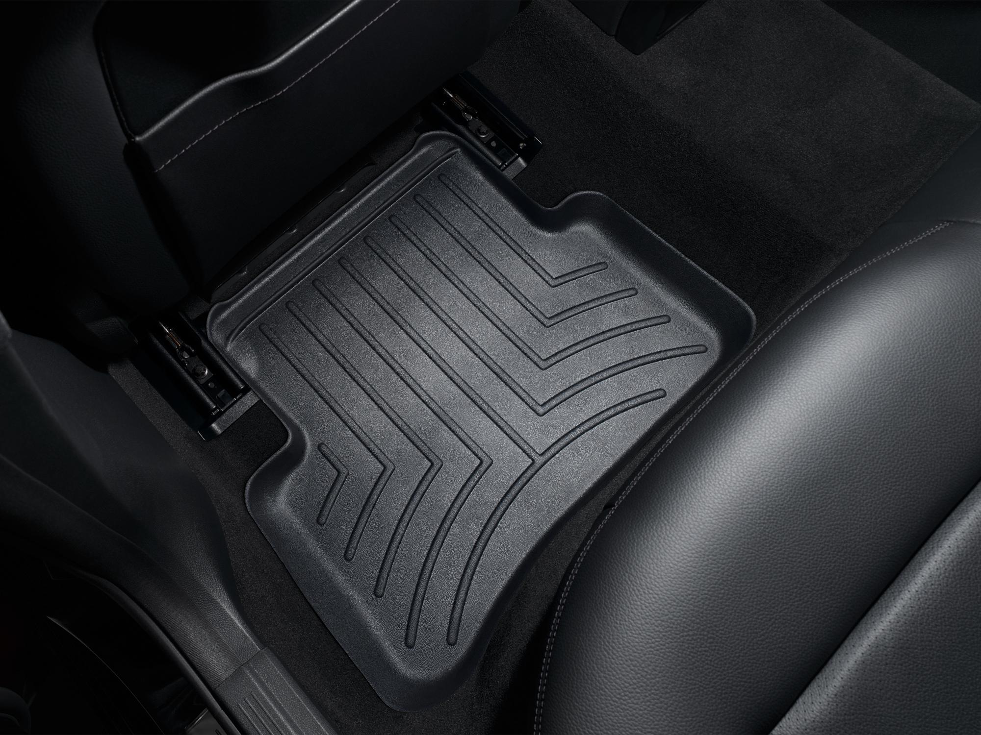 Tappeti gomma su misura bordo alto Mercedes CLS-Class 11>17 Nero A2331*