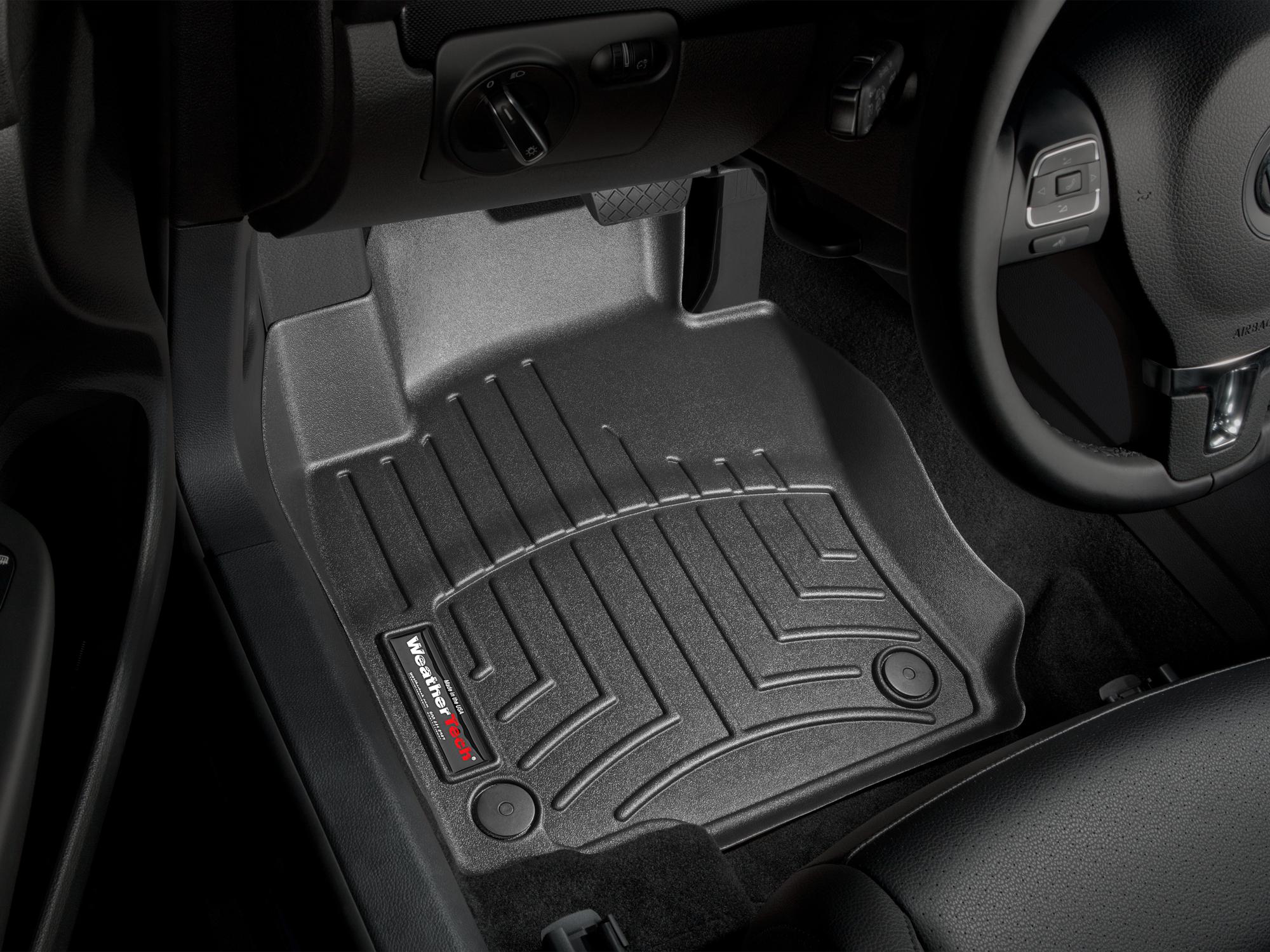 Tappeti gomma su misura bordo alto Volkswagen Scirocco 08>15 Nero A4259*