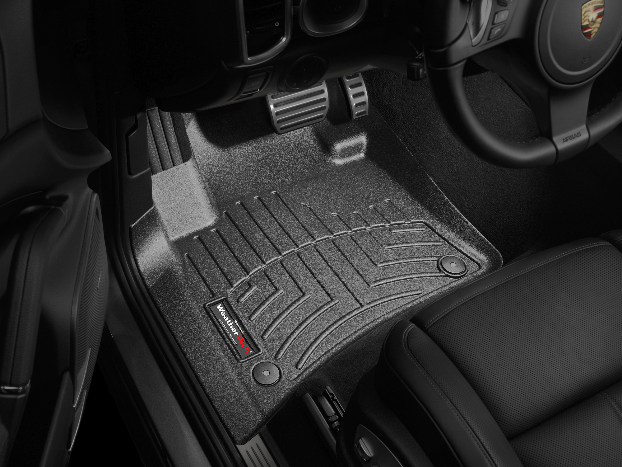 Tappeti gomma su misura bordo alto Volkswagen Touareg 10>10 Nero A4322*