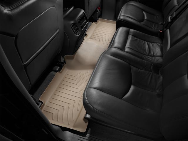 Tappeti gomma su misura bordo alto Cadillac Escalade ESV 03>06 Marrone A35*