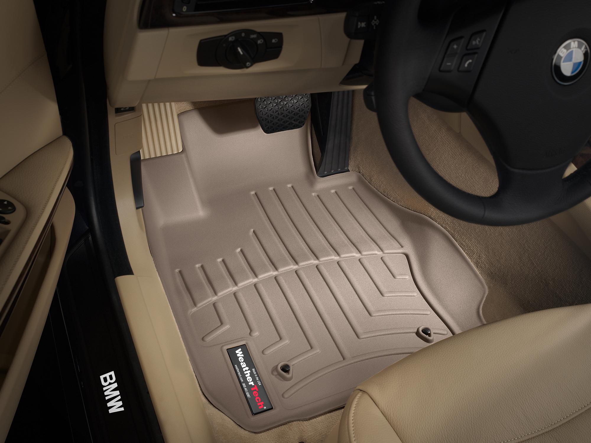 BMW Serie 3 E90/E91/E92/E93 06>13 Tappeti gomma su misura bordo alto marrone