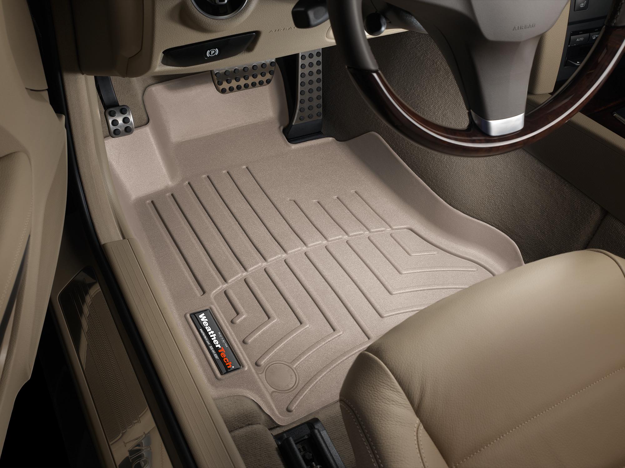 Tappeti gomma su misura bordo alto Mercedes E-Class 09>11 Marrone A2378*