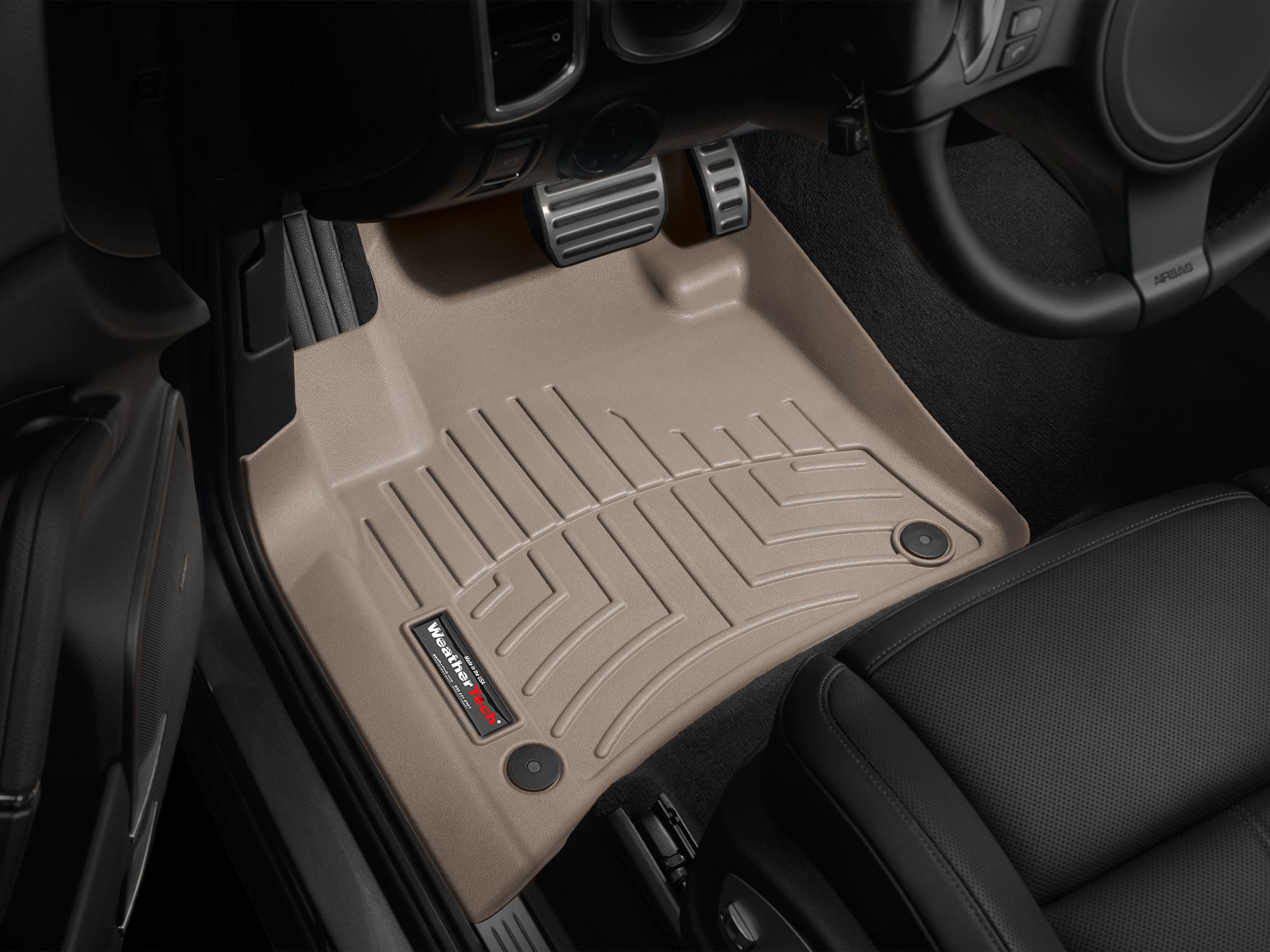 Tappeti gomma su misura bordo alto Volkswagen Touareg 11>17 Marrone A4331*