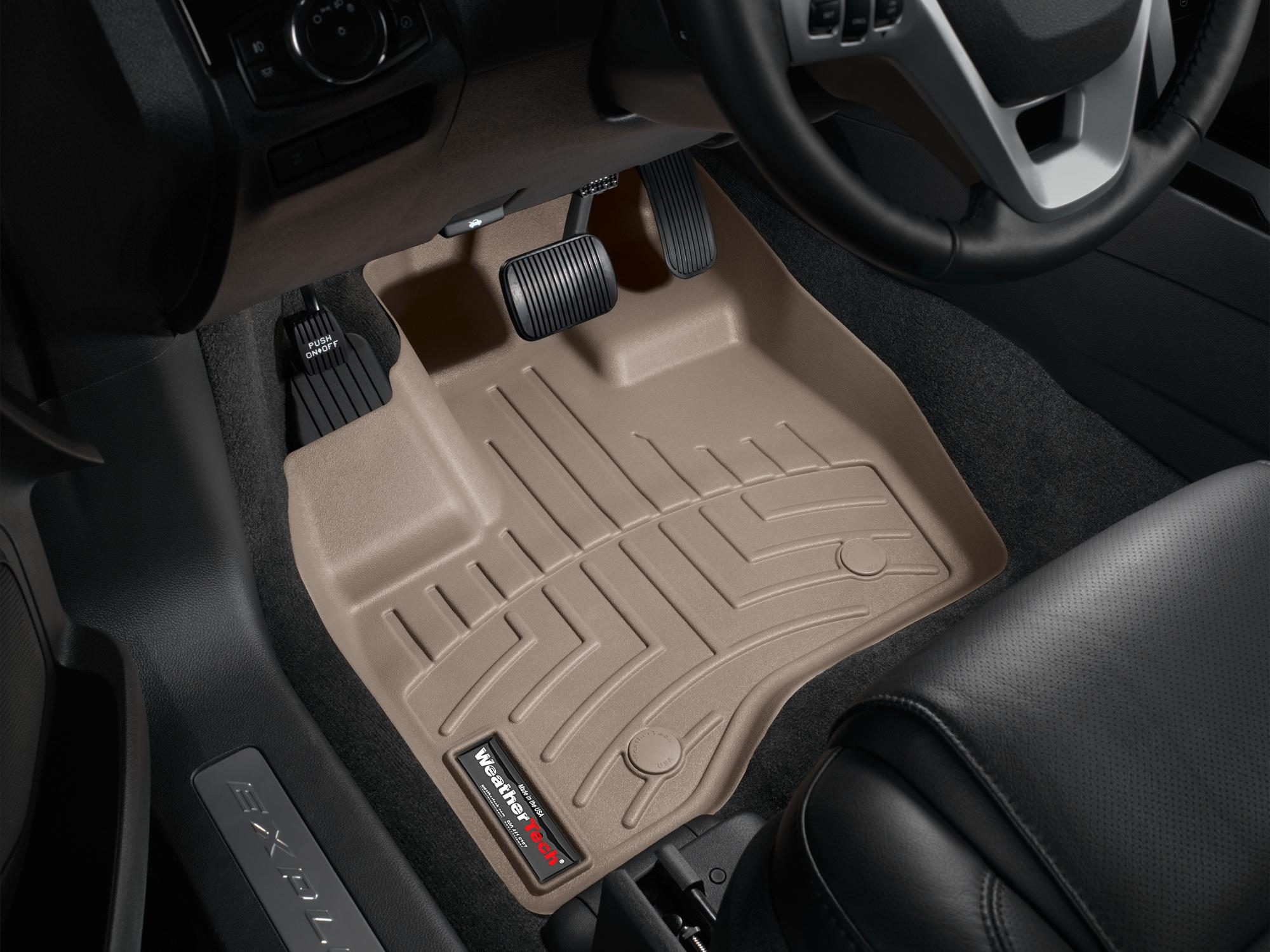 Tappeti gomma su misura bordo alto Ford Explorer 11>14 Marrone A864*