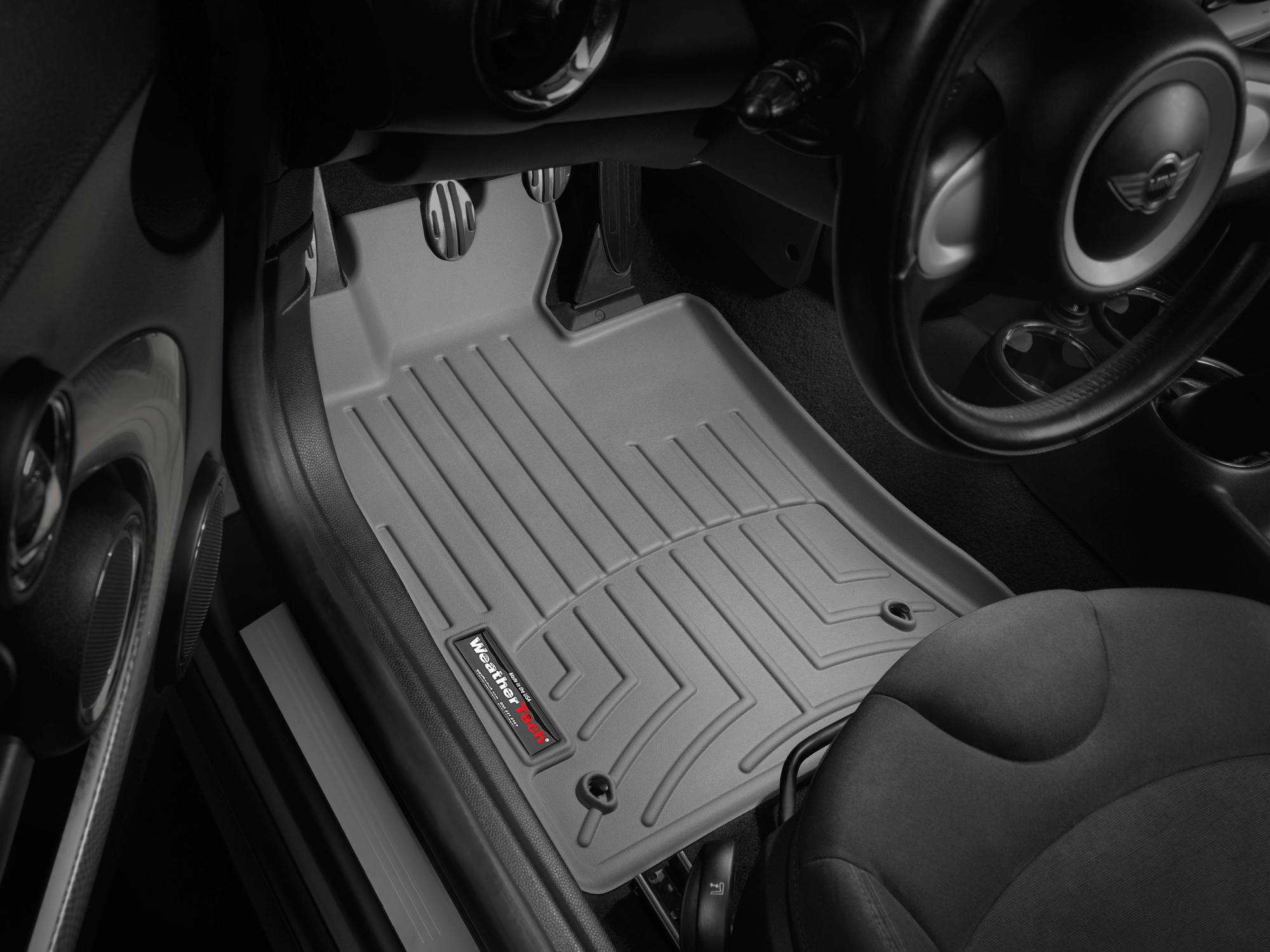 Tappeti gomma su misura bordo alto MINI Cooper / Cooper S 07>08 Grigio A2677*