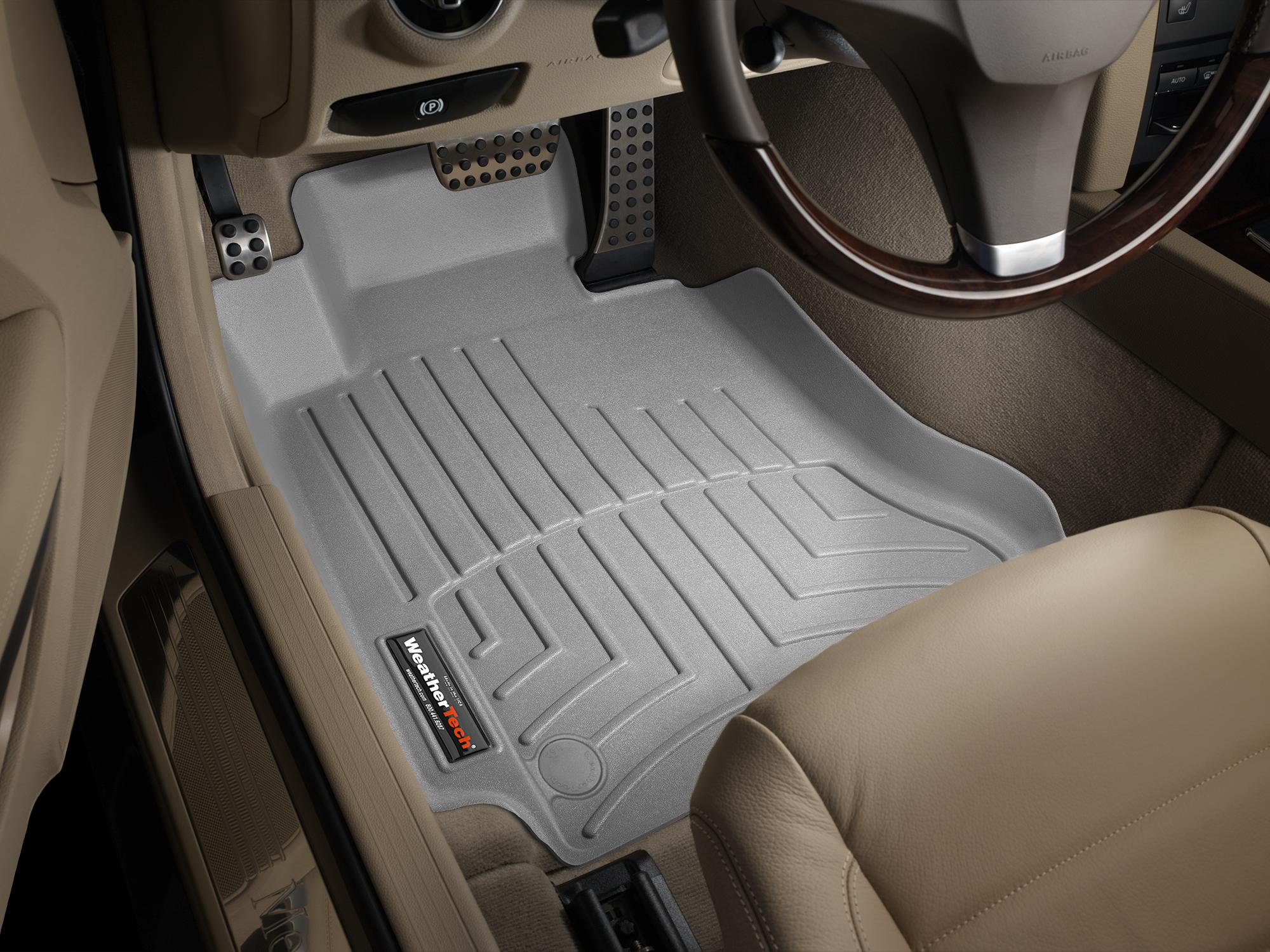 Tappeti gomma su misura bordo alto Mercedes E-Class 12>14 Grigio A2399*