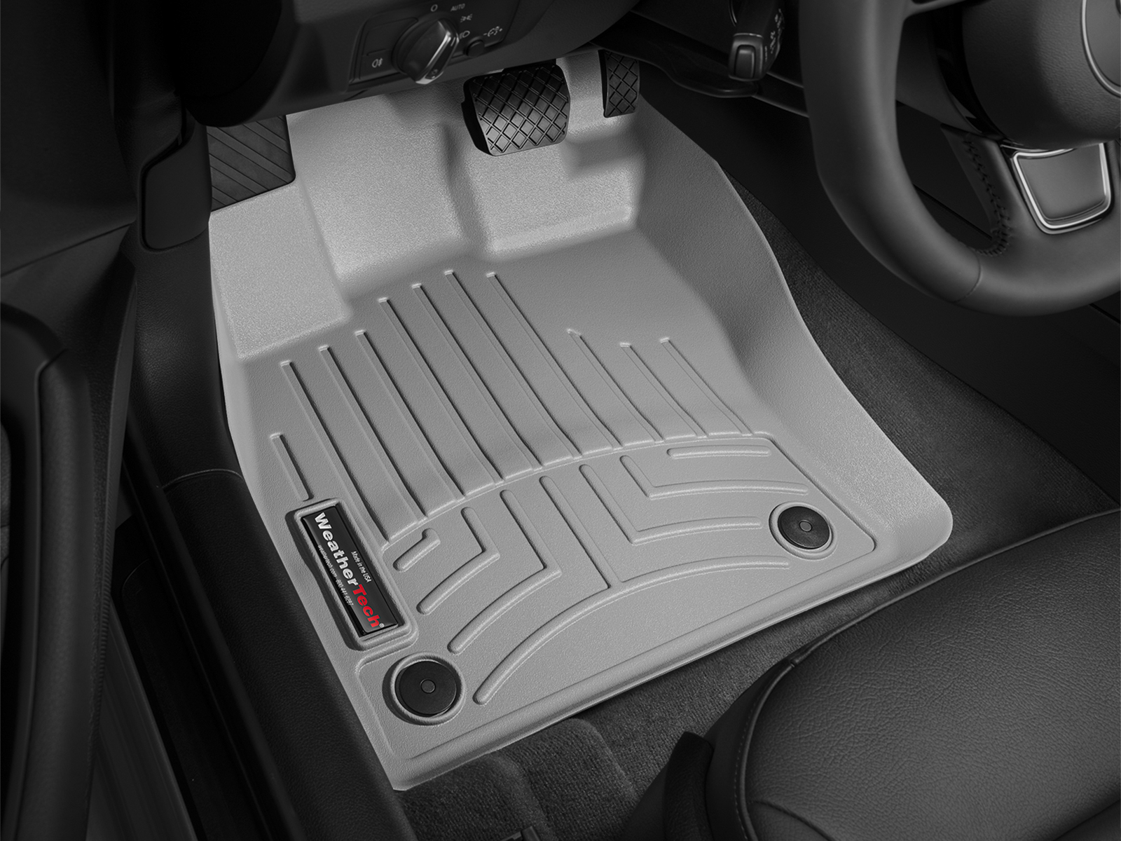 Tappeti gomma su misura bordo alto Volkswagen Golf 13>17 Grigio A4058*