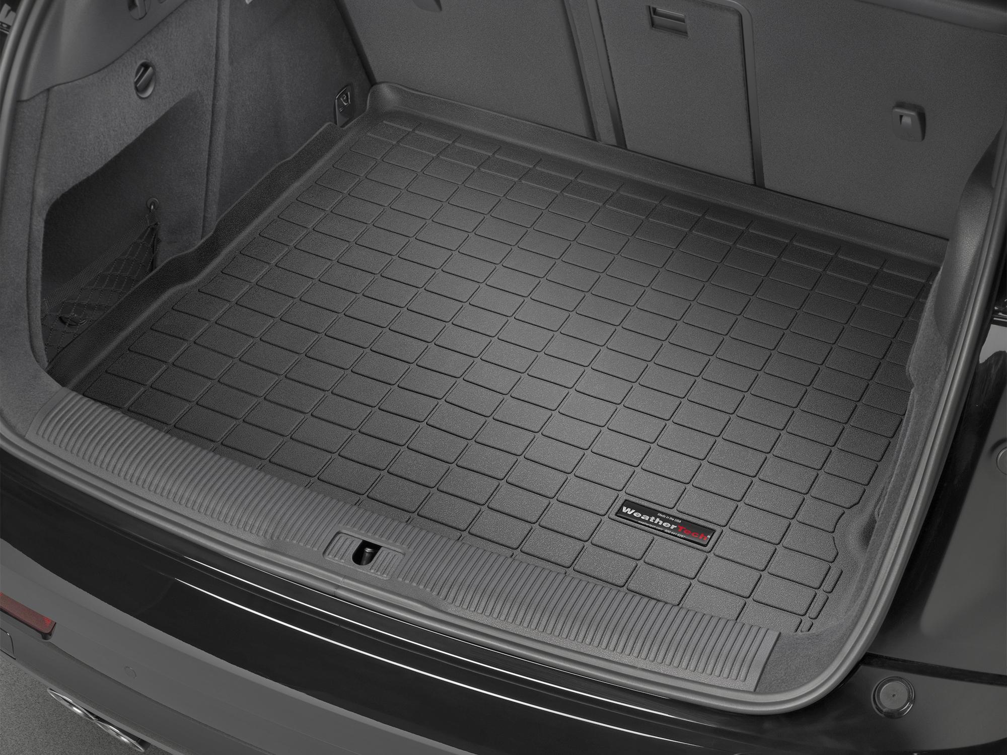 Audi Q3 2011>2017 Vasca proteggi baule tappeto bagagliaio nero *91