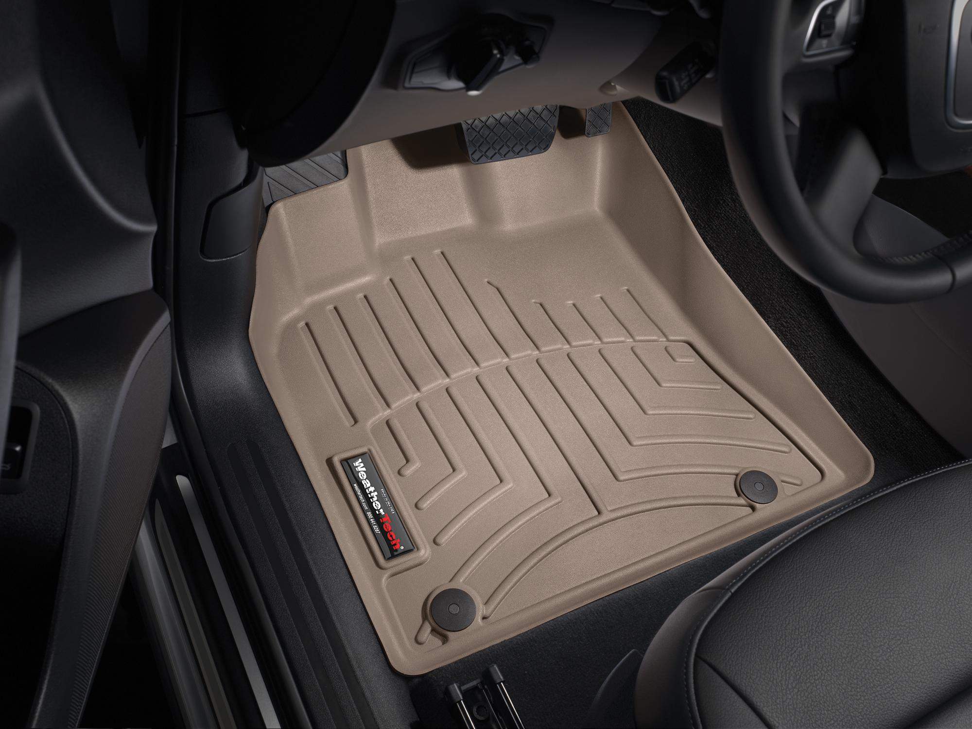 Tappeti gomma su misura bordo alto Porsche® Macan 14>17 Marrone A3165