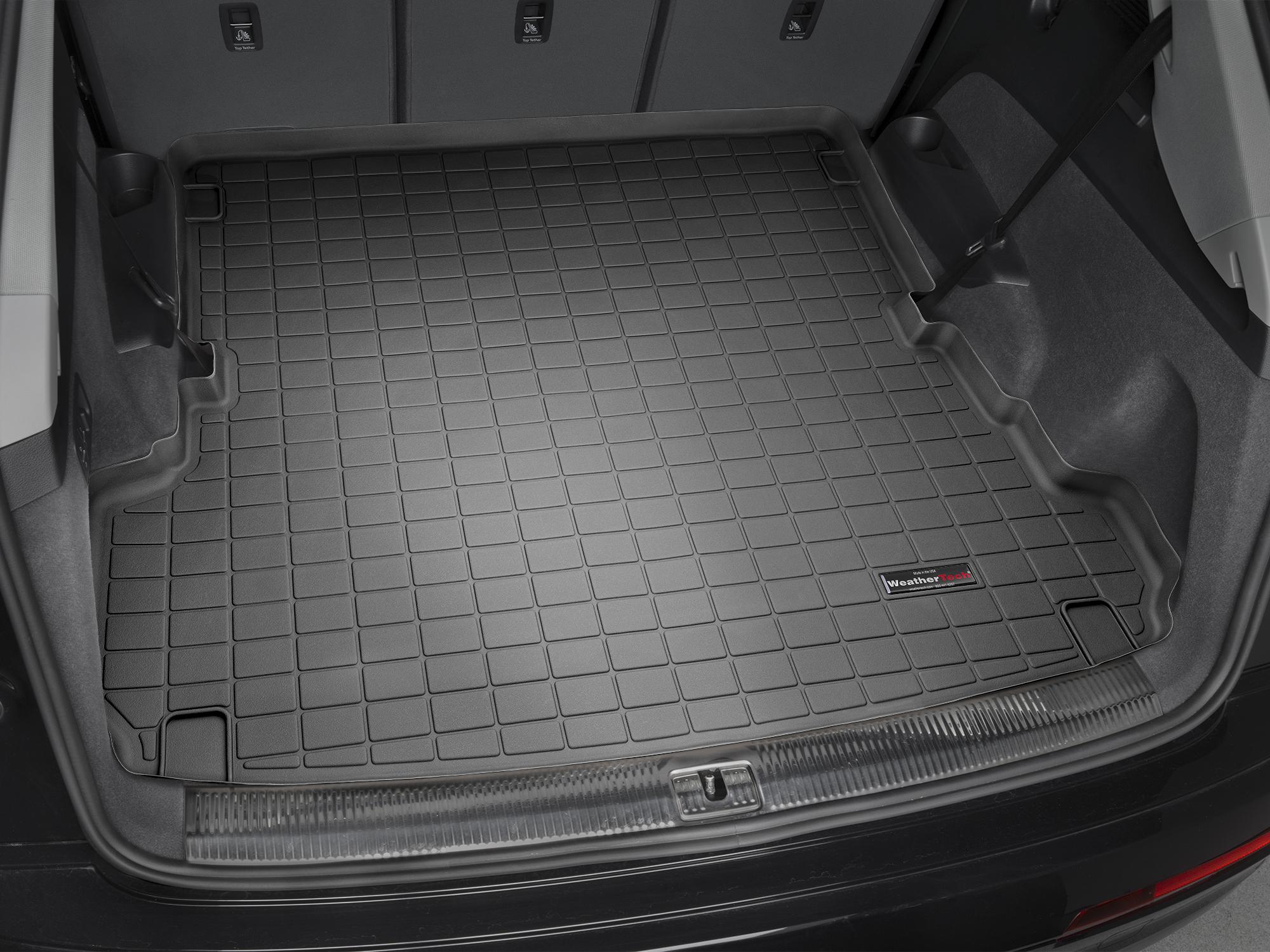 Audi Q7 2016>2017 Vasca proteggi baule tappeto bagagliaio nero *127