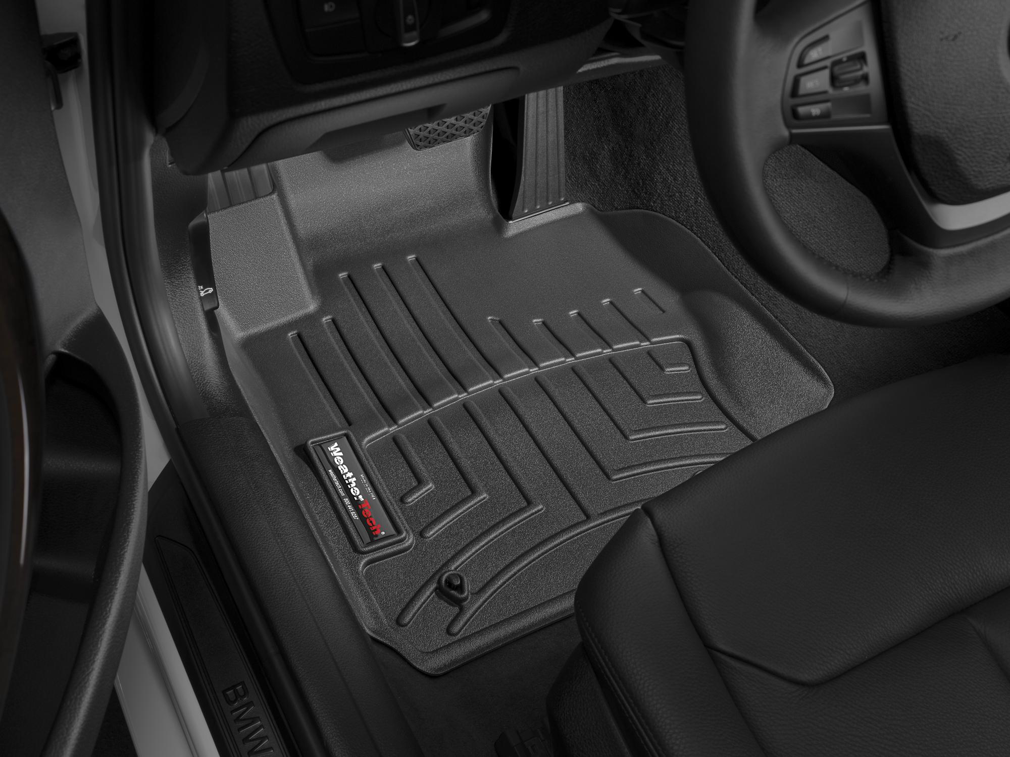 BMW Serie 3 (F30/F31) 12>17 Tappeti gomma su misura bordo alto nero