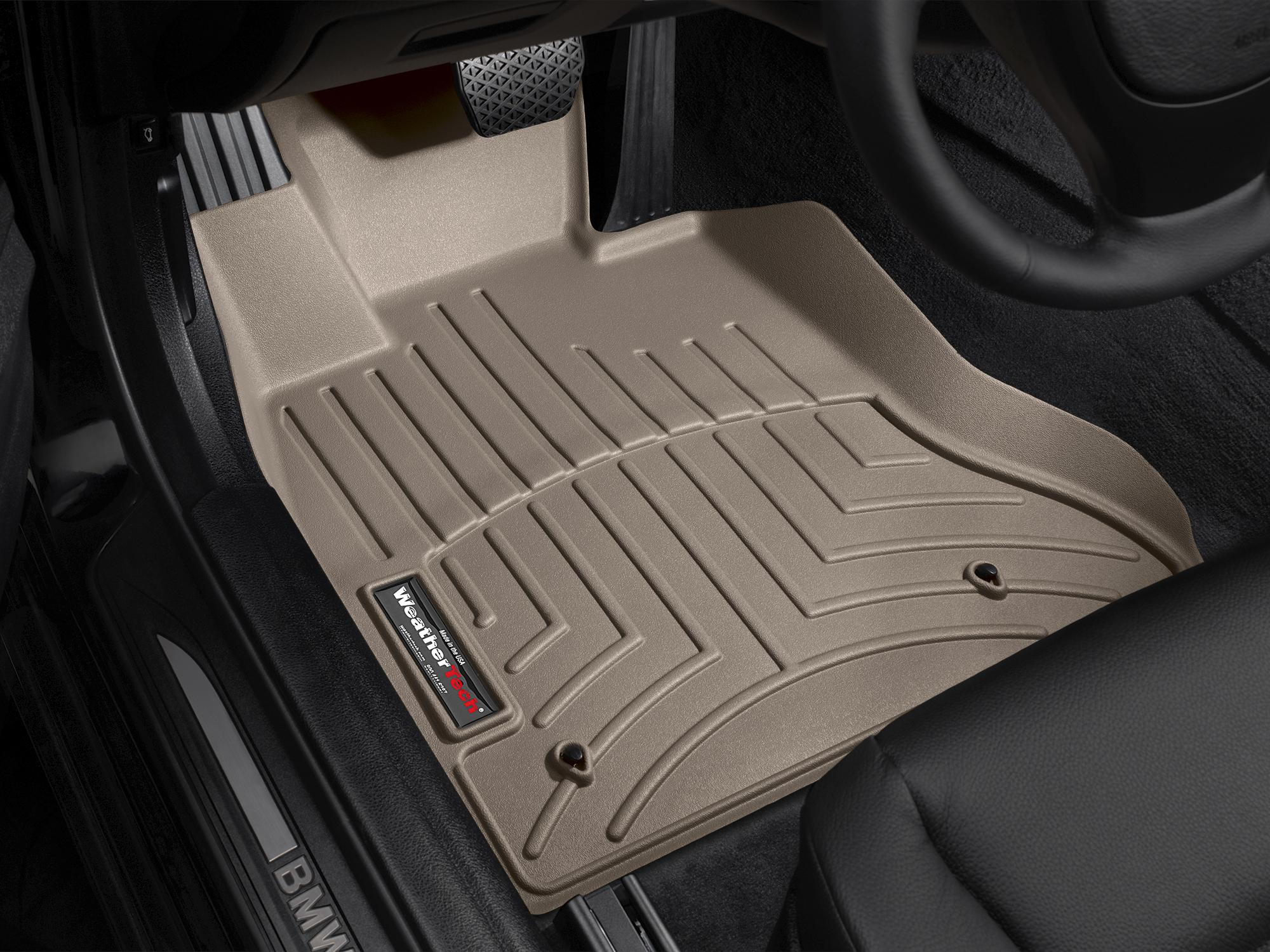 BMW M5 (F10) 11>16 Tappeti gomma su misura bordo alto marrone