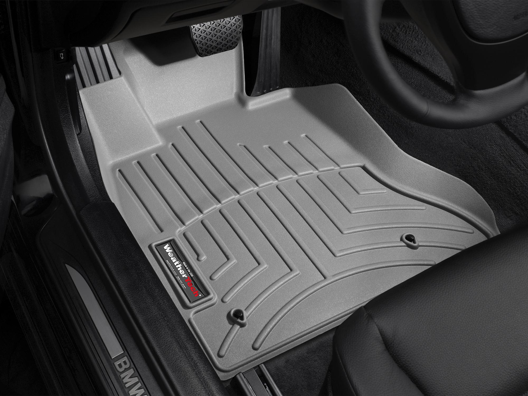 BMW M5 (F10) 11>16 Tappeti gomma su misura bordo alto grigio