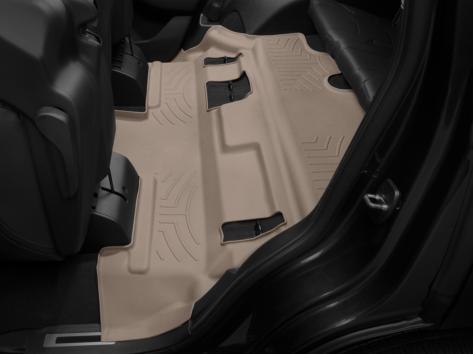 Tappeti gomma su misura bordo alto Cadillac Escalade 15>17 Marrone A28*