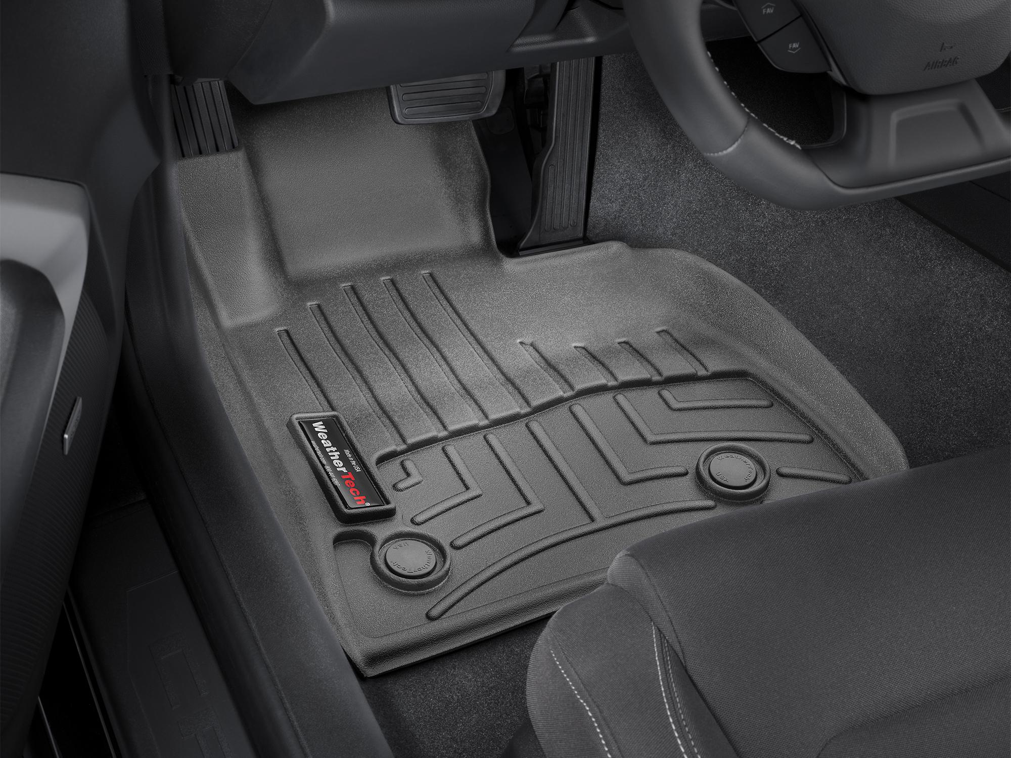 Tappeti gomma su misura bordo alto Chevrolet Camaro 16>17 Nero A104*