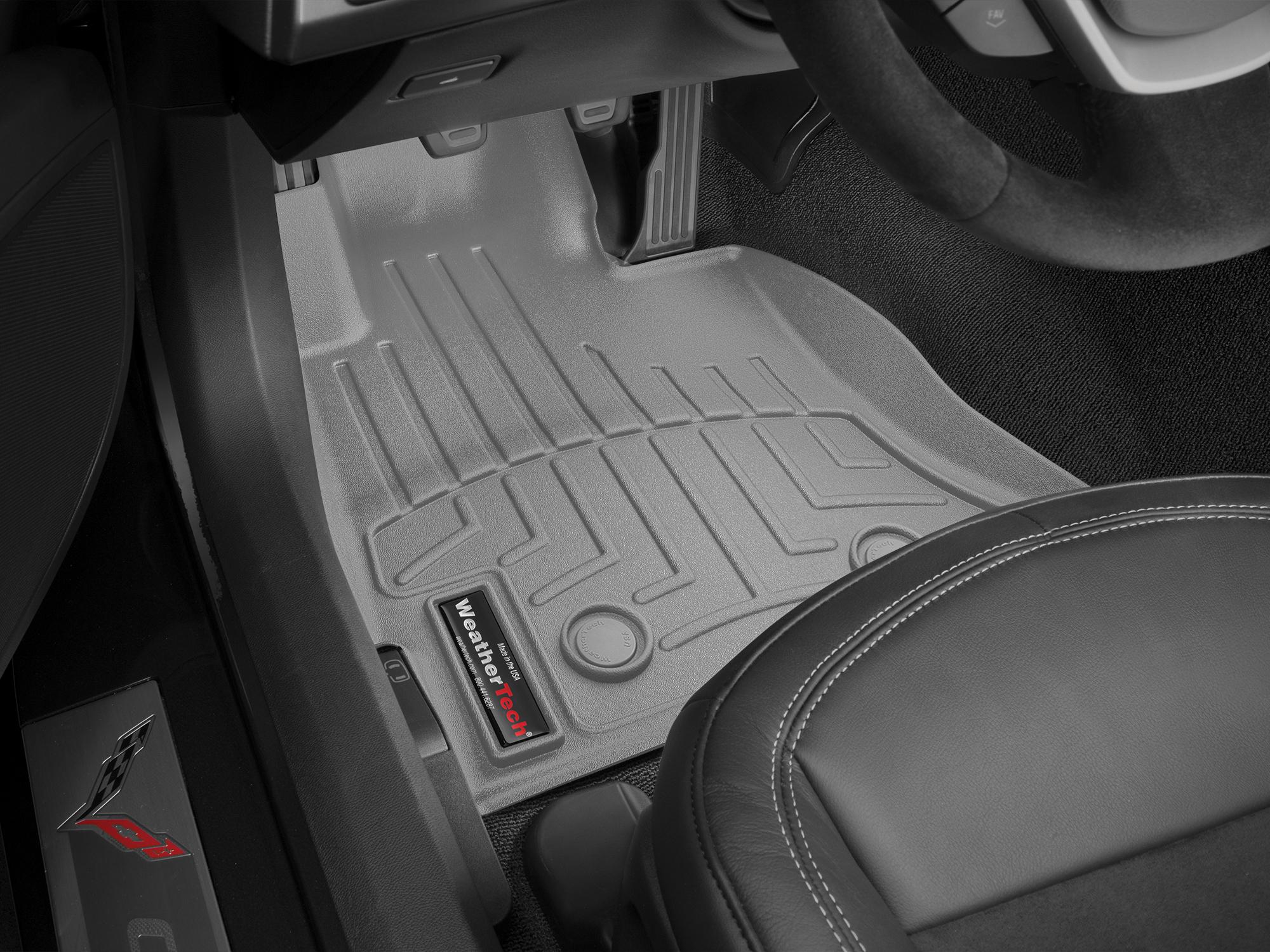 Tappeti gomma su misura bordo alto Chevrolet Corvette 14>17 Grigio A116*