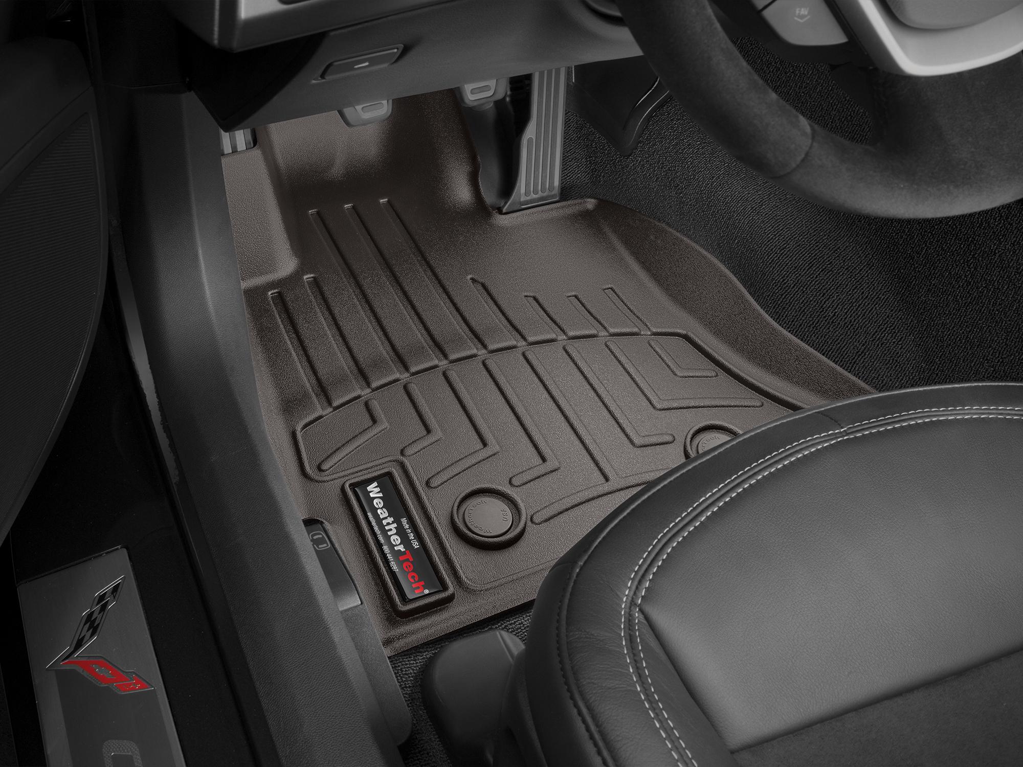 Tappeti gomma su misura bordo alto Chevrolet Corvette 14>17 Cacao A115*
