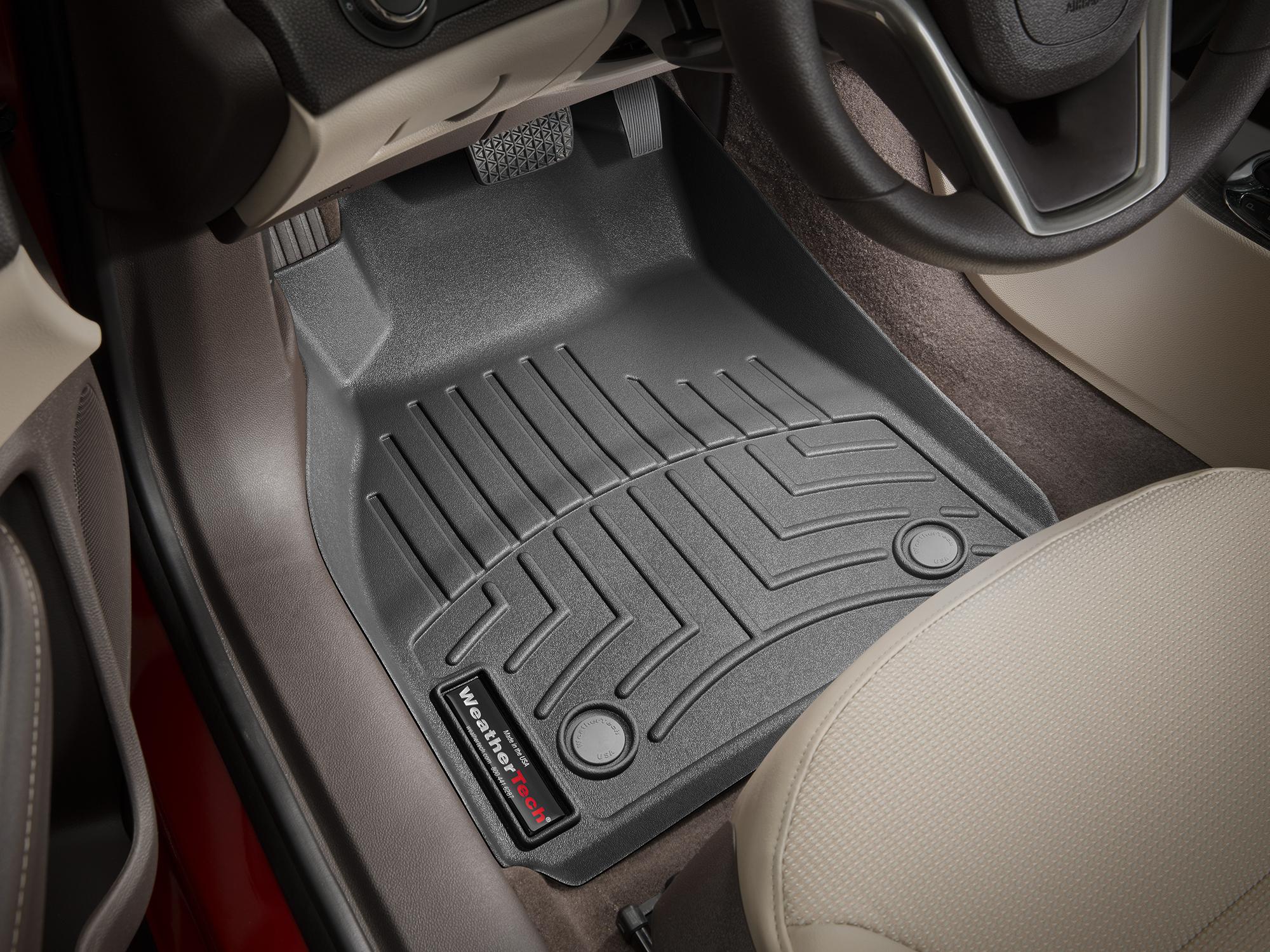 Tappeti gomma su misura bordo alto Chevrolet Malibu 13>15 Nero A146